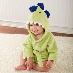 "Personalized ""Splash-a-saurus"" Dinosaur Hooded Spa Robe"