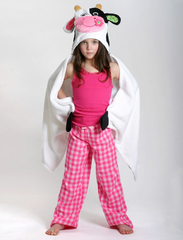 Children's Personalized Casey the Cow Hooded Towel
