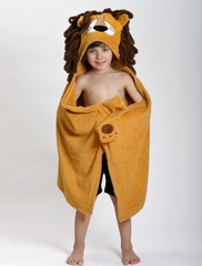 Children's Personalized Leo the Lion Hooded Towel