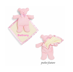 "10"" Personalized Baby Bear Cozy - Pink"