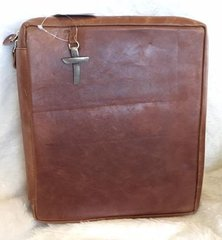 Crimson Truth Genuine Worn Leather Bible Cover - Large Brown
