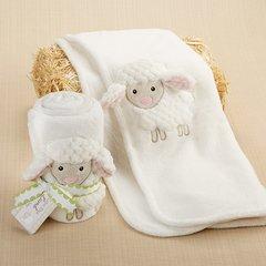 Personalized Plush 3-D Lamb Blanket
