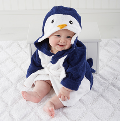 "Personalized ""Wash and Waddle"" Penguin Hooded Spa Robe"