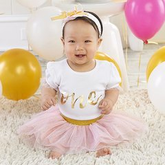 """""""My First Birthday"""" 3-Piece Tutu Outfit"""