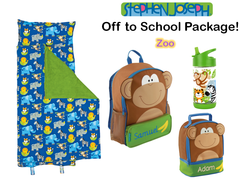 "Personalized ""Off to School"" 4-Piece Zoo Package by Stephen Joseph"