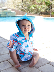 Personalized UPF 50+ Shark Cover Up