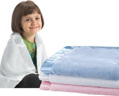 Personalized Satin Trim Microfleece Baby Blanket - 3 Colors