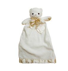 Personalized Lovie Babies Cream Bear Security Blanket