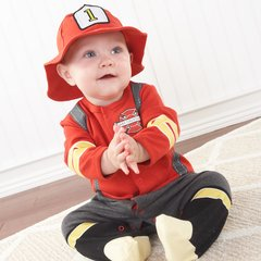 Personalized Fireman Two-Piece Sleeper Set