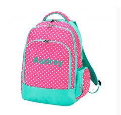 Personalized Pink Dottie Backpack