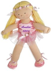 "Personalized 18"" Rosy Cheeks Big Sister Ballerina Doll - Blonde"