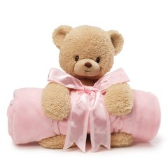 Personalized Teddy & Blanket Set - Pink