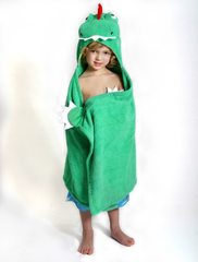 Children's Personalized Devin the Dinosaur Hooded Towel