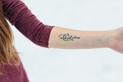 In Christ Alone Temporary Tattoos - 2 Sizes