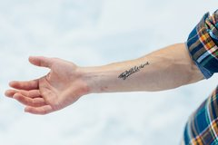 Thy Will Be Done Temporary Tattoos - 2 Sizes