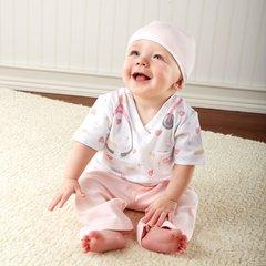 Personalized Little Nurse Three-Piece Sleeper Set