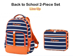 "Personalized ""Back to School"" 2-Piece Line Up Set"