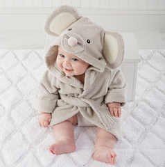"""Personalized """"Squeaky Clean"""" Mouse Hooded Spa Robe"""