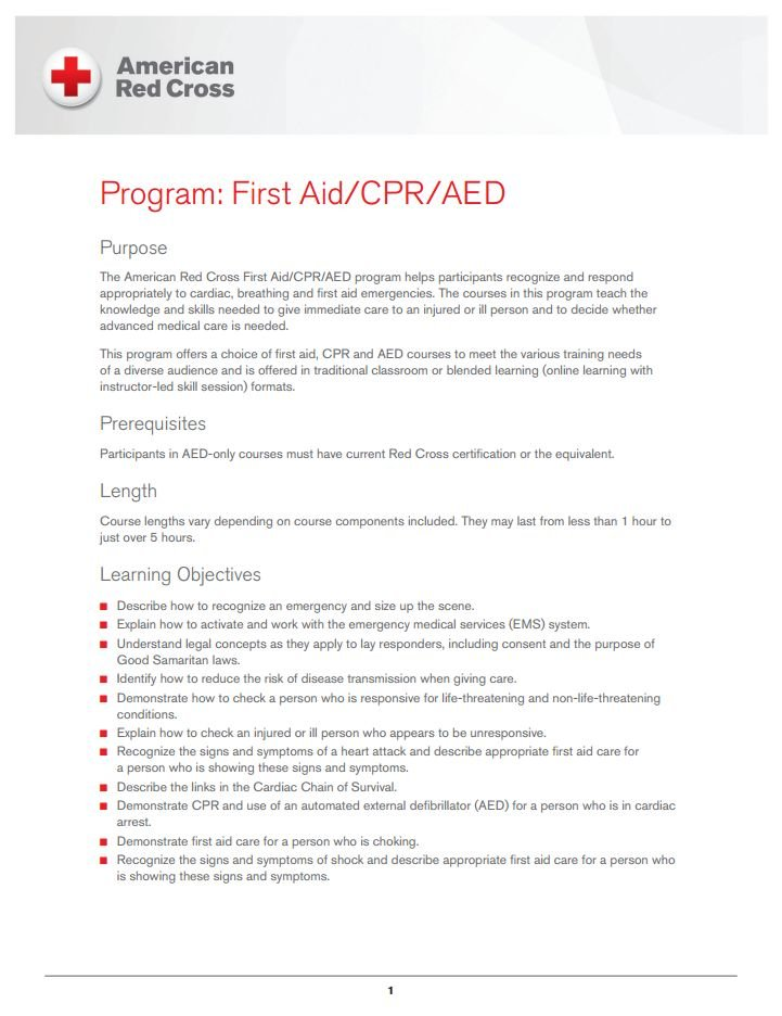 American Red Cross First Aid Cpraed Certification Neptune Rescue