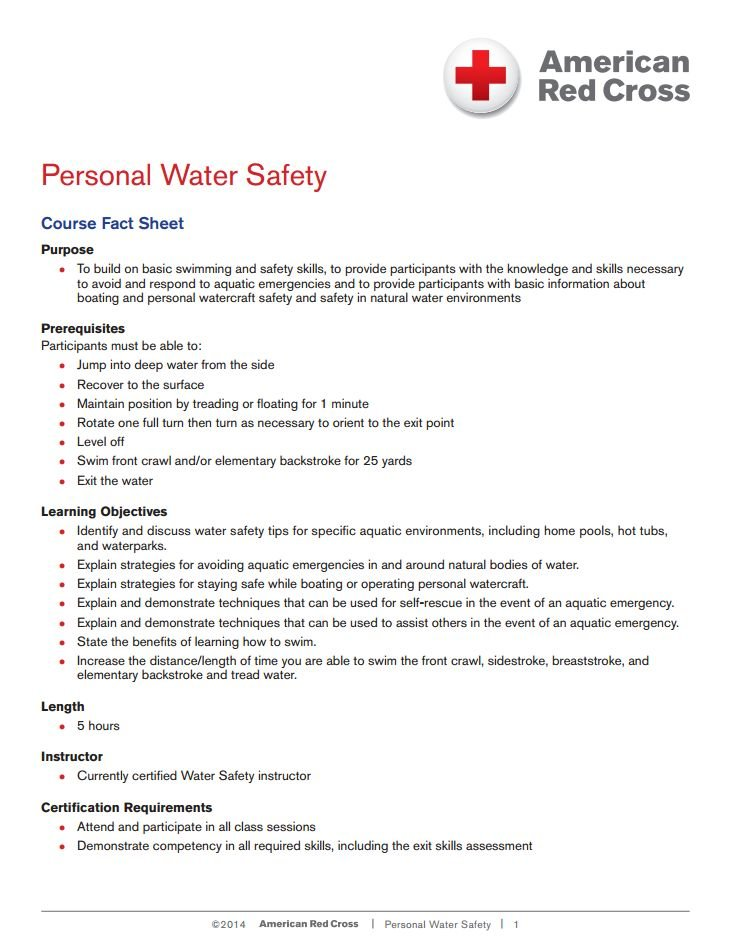 Personal Water Safety Neptune Rescue Lifeguard Training