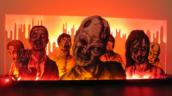 Walking Dead Zombie Horde Pinball Machine Topper