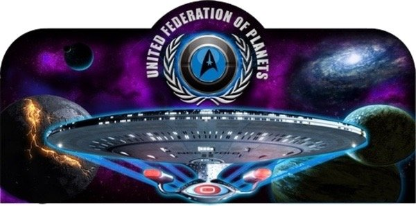 STAR TREK NEXT GENERATION PINBALL TOPPER