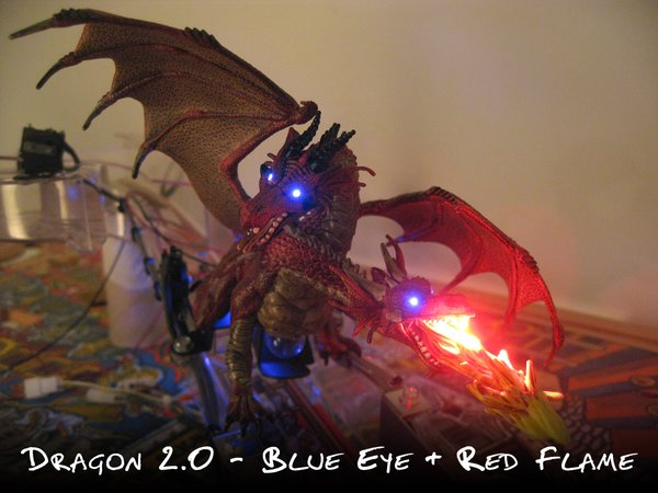 Medieval Madness Double Headed Dragon Blue Eye/Red Flame