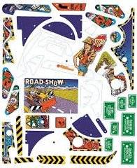 ROAD SHOW SILKSCREENED PLAYFIELD PLASTIC SET