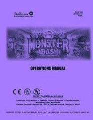 MONSTER BASH WILLIAMS PINBALL MANUAL (REPRINT)