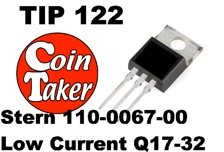 TIP 122 Transistor Stern 110-0067-00 Low Current - Flash Q17-32
