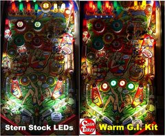 WHOA NELLIE BJM PLAYFIELD GI UPGRADE LED Kit w Frosted LEDs