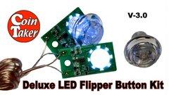 LED FLIPPER BUTTON KIT DELUXE (Stern Pre Spike DMD)