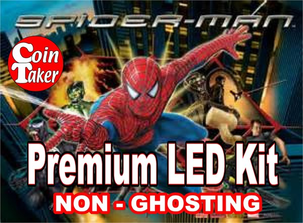 SPIDERMAN / & BLACK -1 LED Kit w Premium Non-Ghosting LEDs
