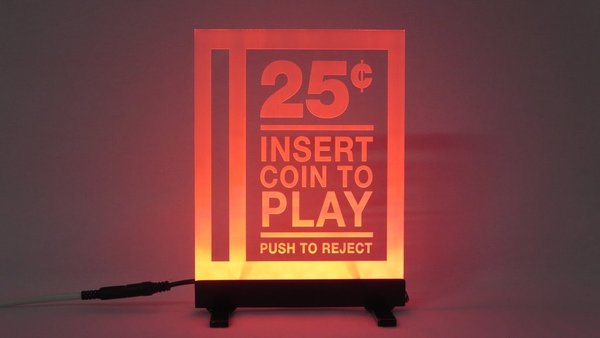 COIN SLOT LED SIGN