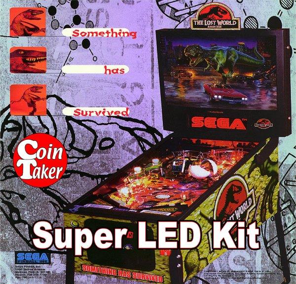 2. LOST WORLD JURASSIC PARK Sega LED Kit w Super LEDs