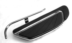 HEEL GUARD, CARL MILES 1610R (RIGHT side), Chrome Turn-Out Heel Guard - AIRFLOW Style CVO Models