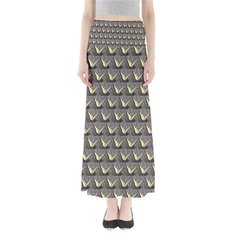 Butterfly Pattern Maxi Skirt