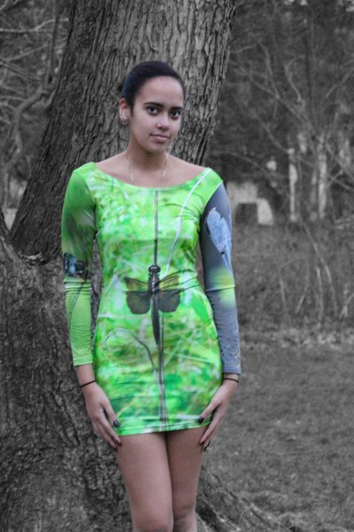 Long Sleeve Dragonfly Dress