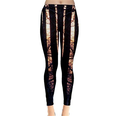 the trees winter leggings