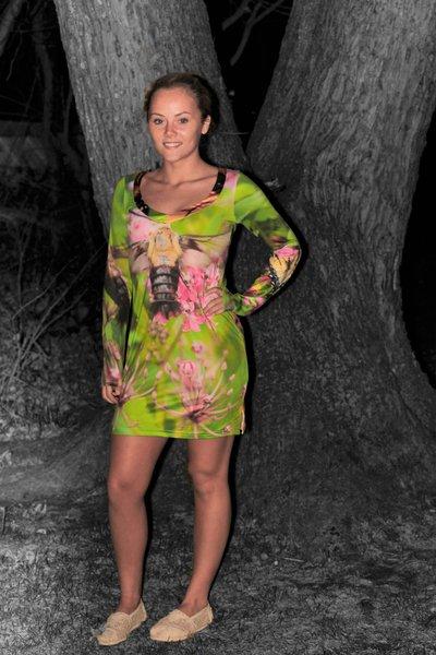 Butterfly Long Sleeve Dress