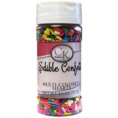 Multi Colored Heart Shaped Sprinkles 2.6 oz
