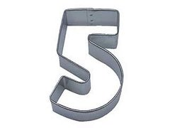 Number 5 Cookie Cutter 2 3/8 inch