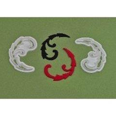 Leaf Double Scroll Gumpaste Fondant Cutter