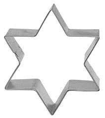 Star of David Cookie Cutter 4 inch