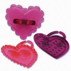 Heart Jewel Cupcake Rings 12 Piece