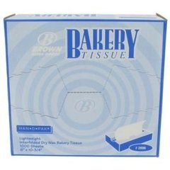 Bakery Wax Tissue 1000 Piece Box