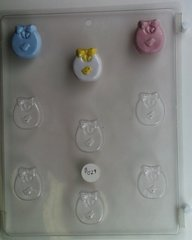 Baby Bib 9 Cavity Chocolate Craft Candy Mold