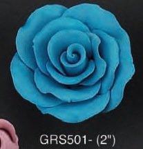 Mauve Rose 3D 2 inch 5 Piece Edible Gumpaste Flower