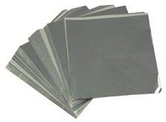Silver 3x4 Candy Foil Squares 125 piece