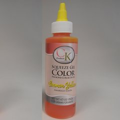 Lemon Yellow Gel Food Coloring 4.5 oz